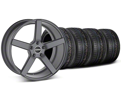 MMD Staggered 551C Charcoal Wheel & NITTO INVO Tire Kit - 20x8.5/10 (05-14 All)