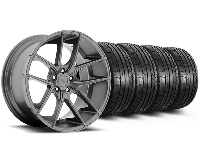 Niche Targa Matte Anthracite Wheel & Mickey Thompson Tire Kit - 19x8.5 (05-14 All)
