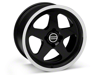 Black SC Style Wheel - 17x9 (87-93; Excludes 93 Cobra)