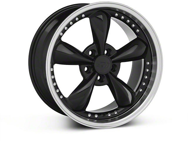 Bullitt Motorsport Black Wheel - 18x9 (87-93 5 Lug Conversion)