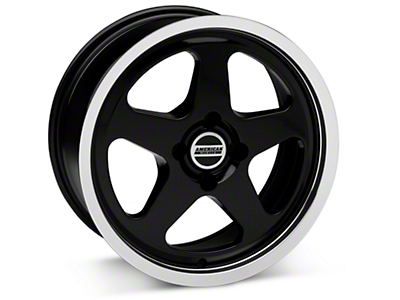 Black SC Style Wheel - 17x8 (87-93; Excludes 93 Cobra)