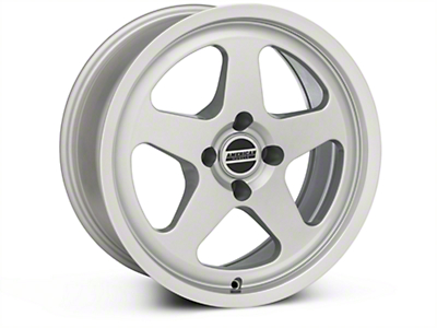 Silver SC Style Wheel - 17x8 (87-93; Excludes 93 Cobra)