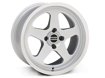 Silver SC Style Wheel - 17x9 (87-93; Excludes 93 Cobra)