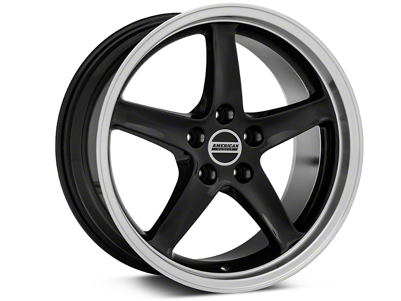 Deep Dish 1995 Cobra R Style Black Wheel - 18x9 (94-04 All)
