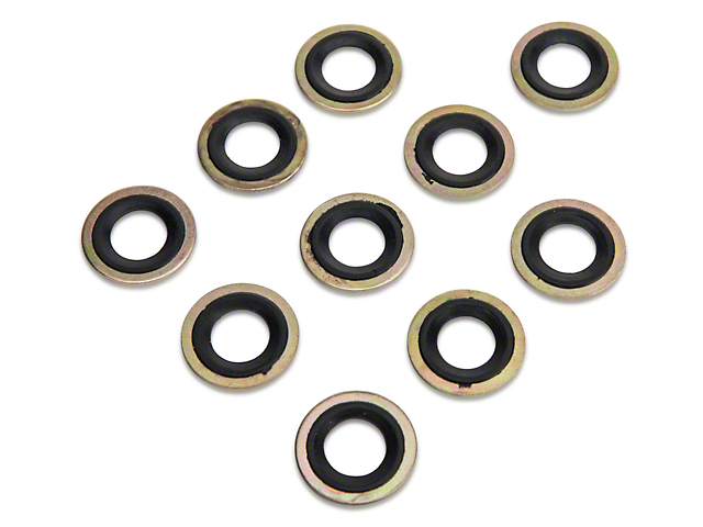 Metal/Rubber Oil Drain Plug Gasket - 10 Pack (79-97 All)