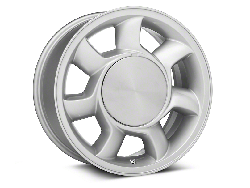 93 Cobra Style Silver Wheel Left Side - 17x8.5 (87-93; Excludes 93 Cobra)