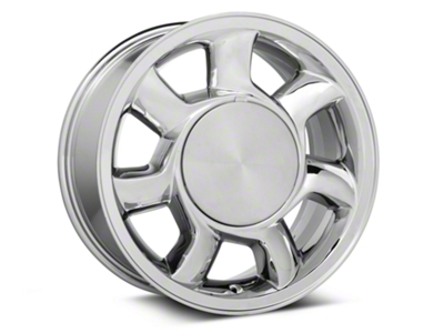 93 Cobra Style Chrome Wheel Left Side - 17x8.5 (87-93; Excludes 93 Cobra)