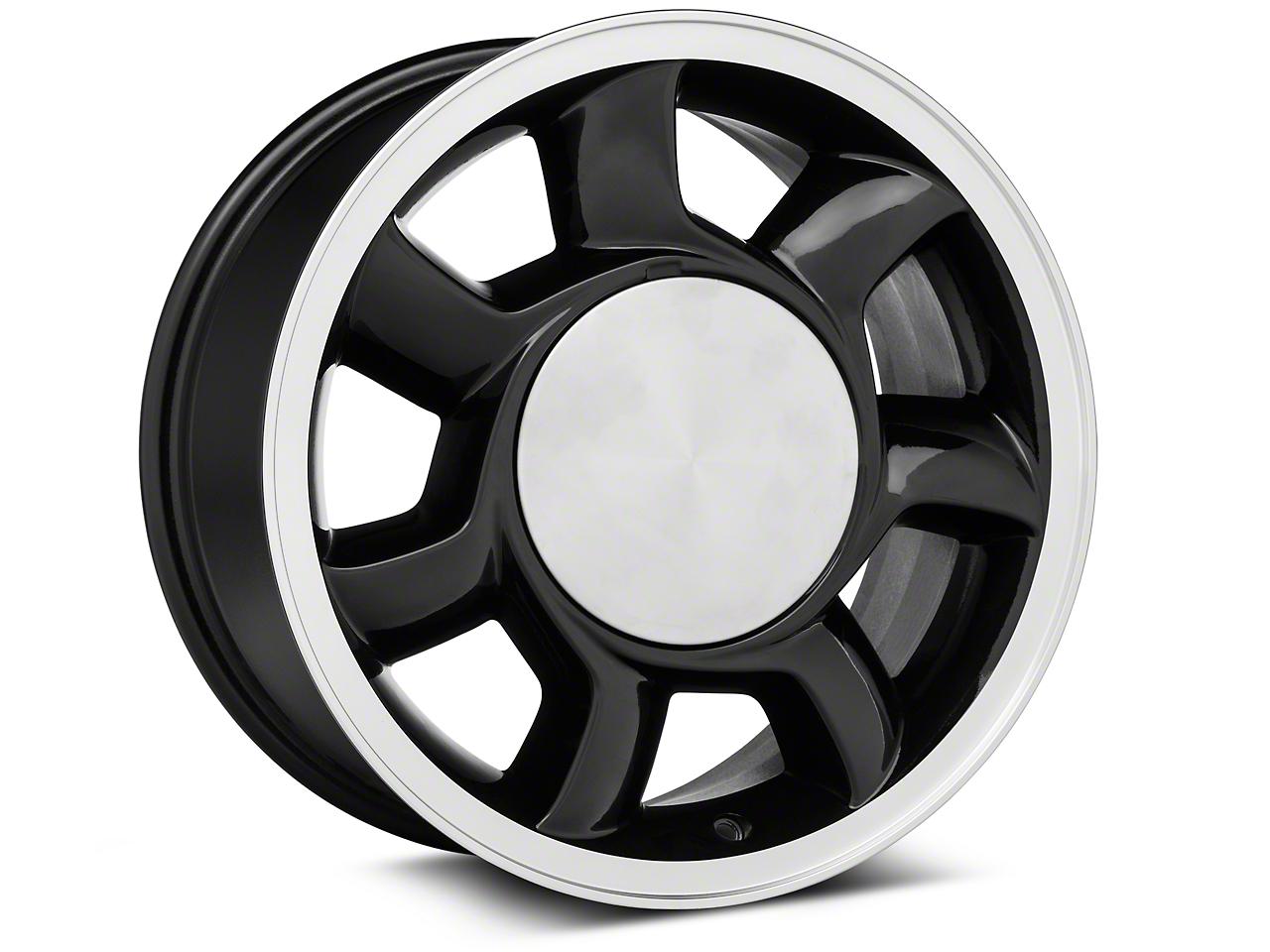 93 Cobra Style Black Wheel RH - 17x8.5 (87-93; Excludes 93 Cobra)