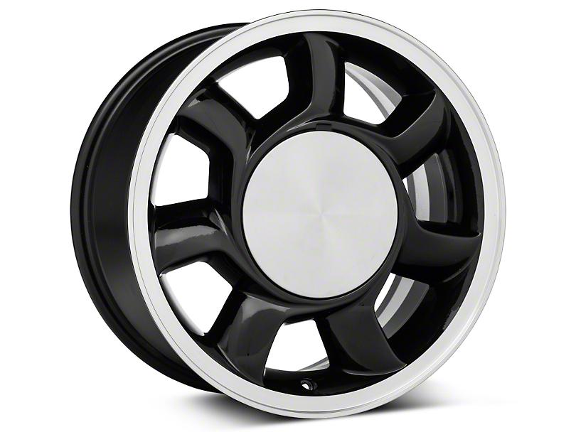 93 Cobra Style Black Wheel Left Side - 17x8.5 (87-93; Excludes 93 Cobra)