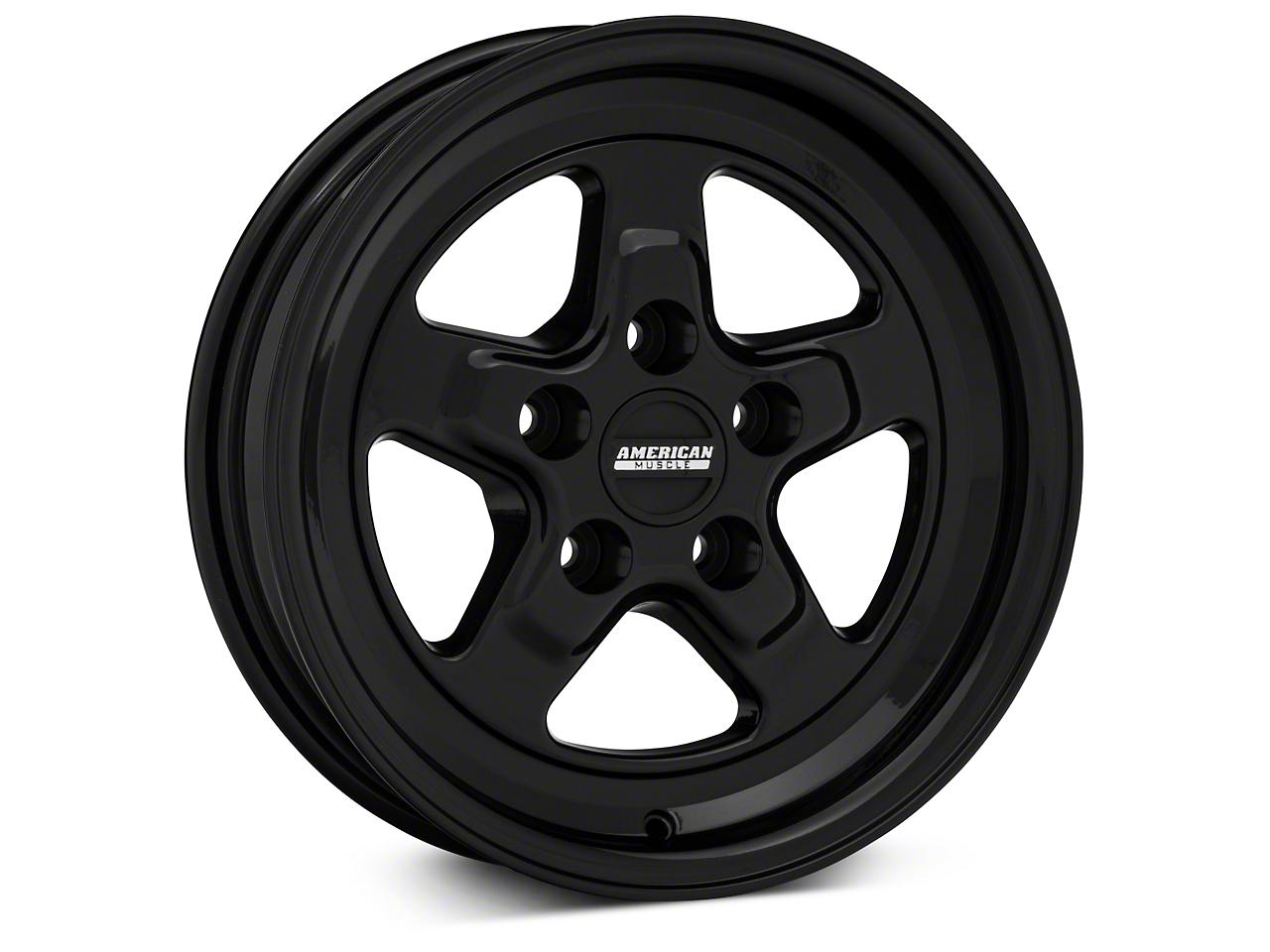 Drag Black Wheel - 15x4 (94-04 GT, V6)