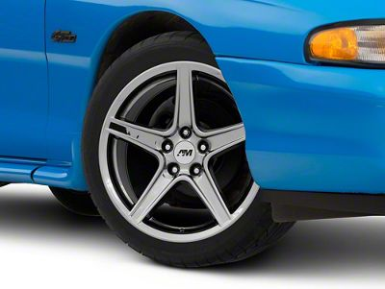 Add Saleen Style Black Chrome Wheel - 18x9 (94-04 All)