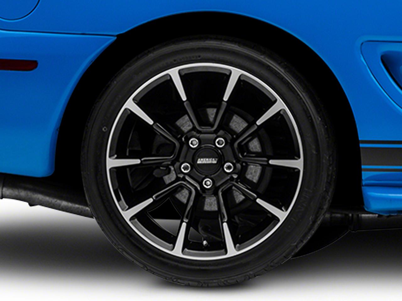 11/12 GT/CS Style Black Machined Wheel - 18x10 (94-04 All)