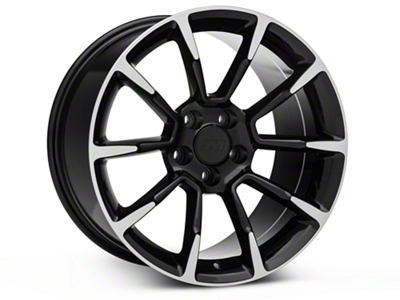 11/12 GT/CS Style Black Machined Wheel - 18x10 (05-14 GT, V6)