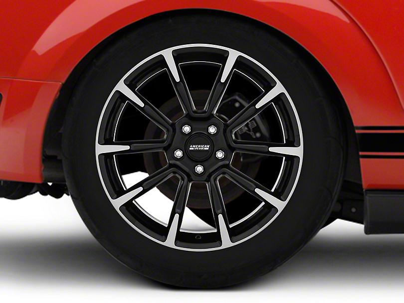 11/12 GT/CS Style Black Machined Wheel - 19x10 (05-14 All)