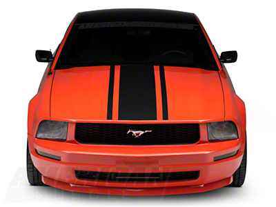 American Muscle Graphics Boss Style Hood Stripe - Matte Black (05-09 All)