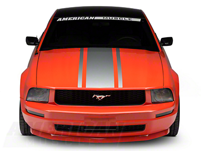 American Muscle Graphics Boss Style Hood Stripe - Silver (05-09 All)