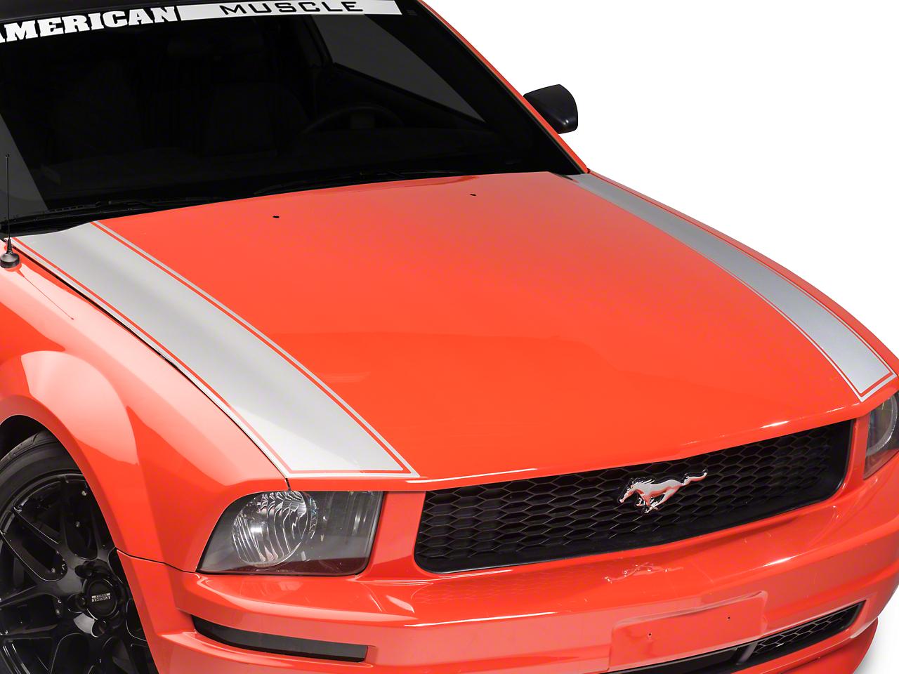 Outer Hood Stripe - Silver (05-09 GT, V6)