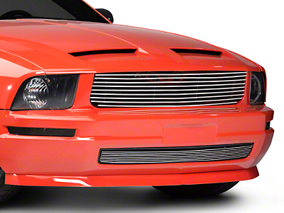 Modern Billet Polished Retro Replacement Grille - Combo (05-09 V6)