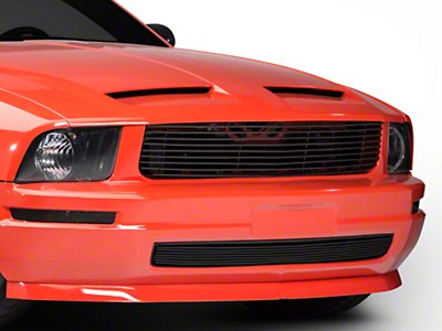 Modern Billet Black Retro Replacement Grille - Combo (05-09 V6)