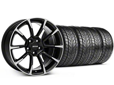 11/12 GT/CS Style Black Machined Wheel & NITTO Tire Kit - 18x9 (99-04 All)