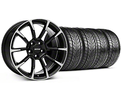 Staggered 11/12 GT/CS Style Black Machined Wheel & NITTO Tire Kit - 18x9/10 (94-98 All)