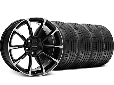 Staggered 11/12 GT/CS Style Black Machined Wheel & Sumitomo Tire Kit - 18x9/10 (94-98 All)