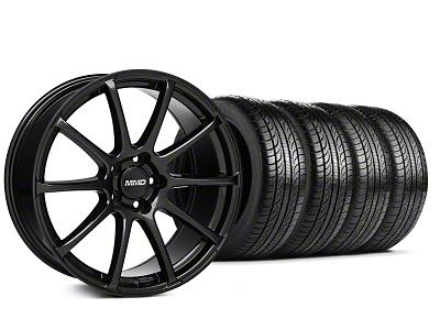 MMD Axim Gloss Black Wheel & Pirelli Tire Kit - 19x8.5 (05-14 All)