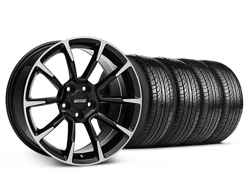 11 12 gt cs style black machined mustang wheel pirelli tire kit 19x8 5 05 14 all free. Black Bedroom Furniture Sets. Home Design Ideas