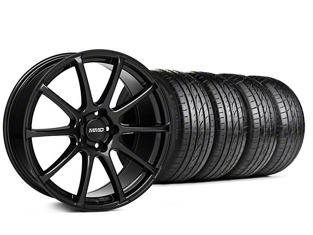 MMD Axim Gloss Black Wheel & Sumitomo Tire Kit - 19x8.5 (05-14 All)