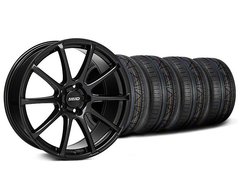 MMD Axim Gloss Black Wheel & NITTO INVO Tire Kit - 19x8.5 (05-14 All)