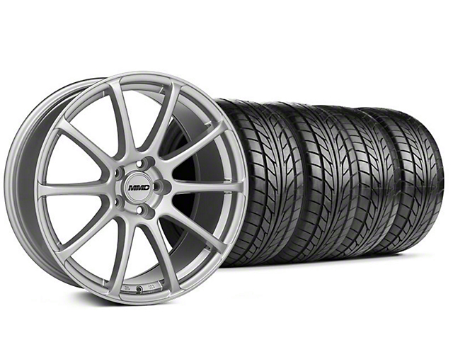MMD Axim Silver Wheel & NITTO Tire Kit - 20x8.5 (05-14 All)