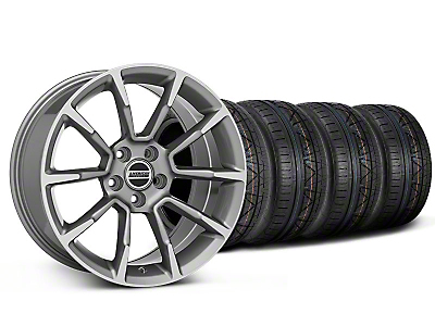 Staggered 11/12 GT/CS Style Anthracite Wheel & NITTO INVO Tire Kit - 18x9/10 (05-14 GT, V6)