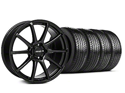 MMD Staggered Axim Gloss Black Wheel & Pirelli Tire Kit - 19x8.5/10 (05-14 All)