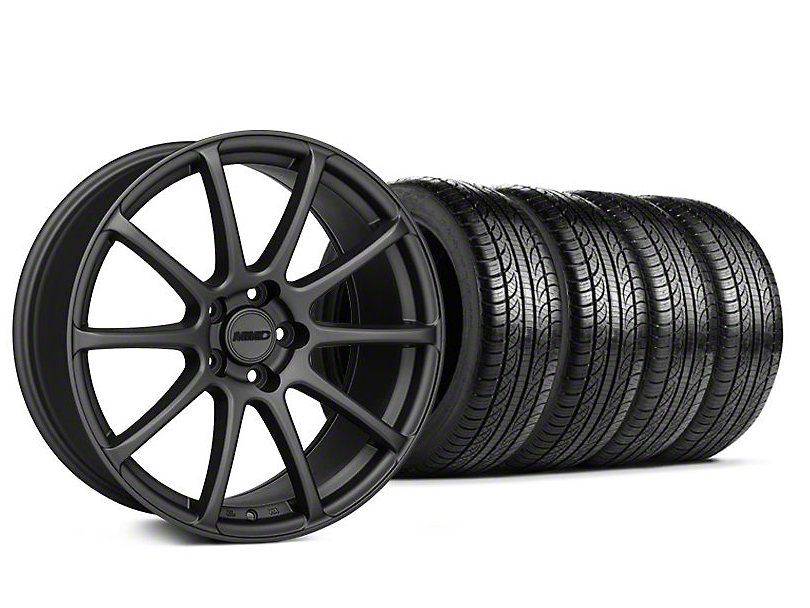 Staggered MMD Axim Charcoal Wheel & Pirelli Tire Kit - 19x8.5/10 (05-14 All)