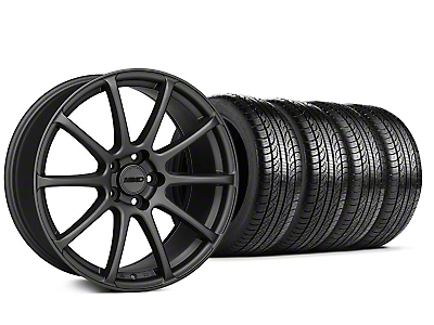 MMD Staggered Axim Charcoal Wheel & Pirelli Tire Kit - 19x8.5/10 (05-14 All)