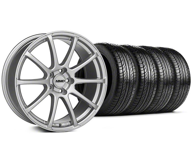 MMD Staggered Axim Silver Wheel & Pirelli Tire Kit - 19x8.5/10 (05-14 All)