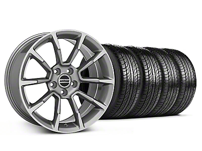 Staggered 11/12 GT/CS Style Anthracite Wheel & Pirelli Tire Kit - 19x8.5/10 (05-14 All)