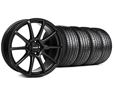 MMD Staggered Axim Gloss Black Wheel & Sumitomo Tire Kit - 19x8.5/10 (05-14 All)
