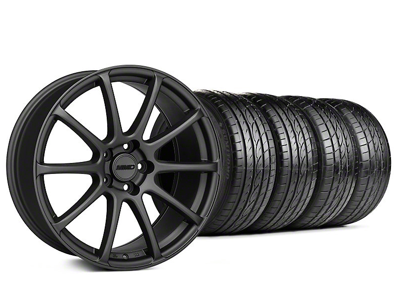 Staggered MMD Axim Charcoal Wheel & Sumitomo Tire Kit - 19x8.5/10 (05-14 All)
