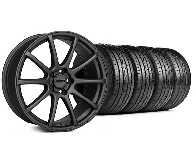 MMD Staggered Axim Charcoal Wheel & Sumitomo Tire Kit - 19x8.5/10 (05-14 All)