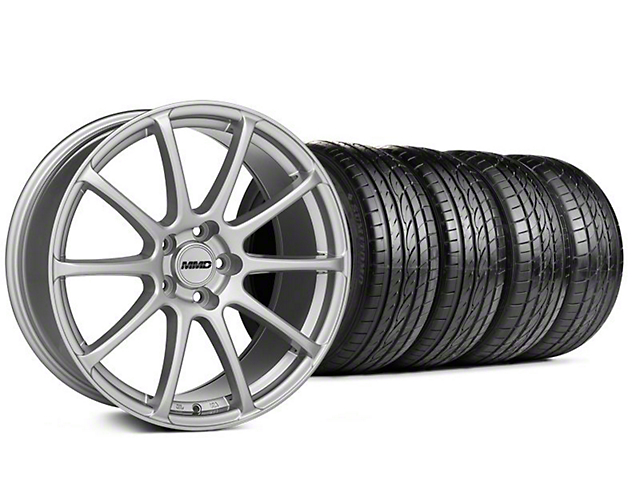 Staggered MMD Axim Silver Wheel & Sumitomo Tire Kit - 19x8.5/10 (05-14 All)