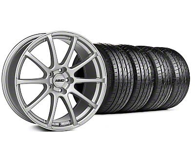 MMD Staggered Axim Silver Wheel & Sumitomo Tire Kit - 19x8.5/10 (05-14 All)