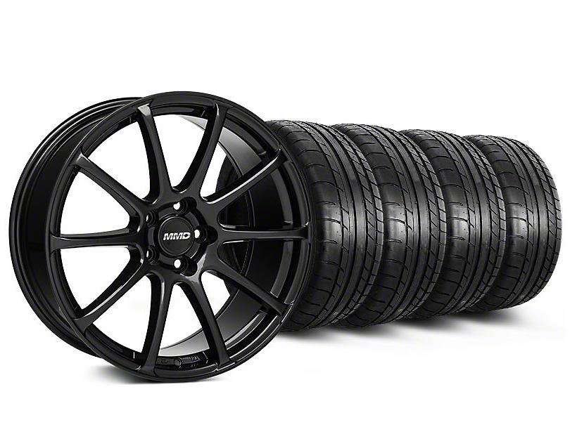 Staggered MMD Axim Gloss Black Wheel & Mickey Thompson Tire Kit - 19x8.5/10 (05-14 All)