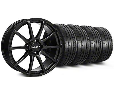 MMD Staggered Axim Gloss Black Wheel & Mickey Thompson Tire Kit - 19x8.5/10 (05-14 All)