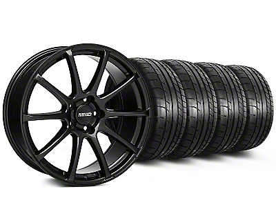 MMD Staggered Axim Gloss Black Wheel & Mickey Thompson Tire Kit - 19x8.5/10 (05-14 All)