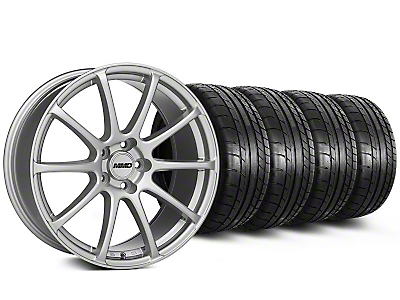 MMD Staggered Axim Silver Wheel & Mickey Thompson Tire Kit - 19x8.5/10 (05-14 All)