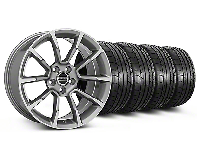 Staggered 11/12 GT/CS Style Anthracite Wheel & Mickey Thompson Tire Kit - 19x8.5/10 (05-14 All)