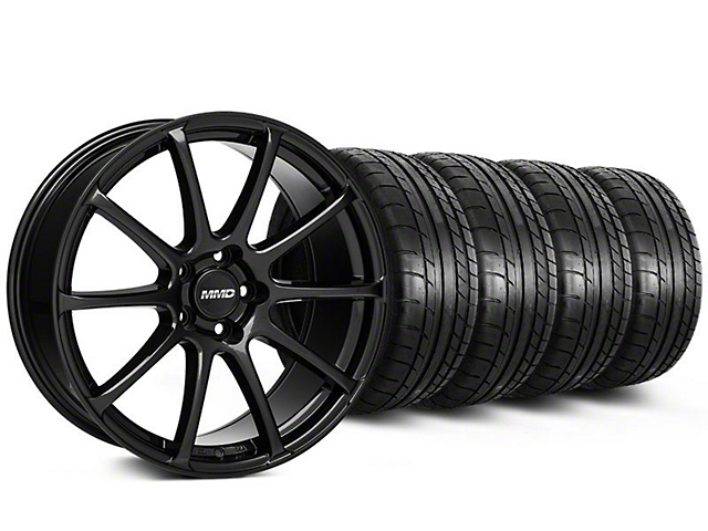 Staggered MMD Axim Gloss Black Wheel & Mickey Thompson Tire Kit - 20x8.5/10 (05-14 All)