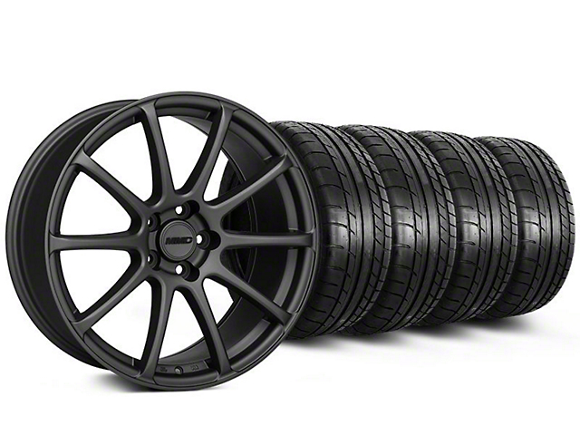 Staggered MMD Axim Charcoal Wheel & Mickey Thompson Tire Kit - 20x8.5/10 (05-14 All)