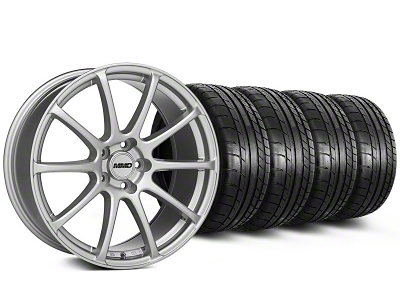 MMD Staggered Axim Silver Wheel & Mickey Thompson Tire Kit - 20x8.5/10 (05-14 All)